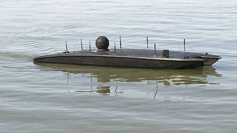 An image that illustrates this article US Navy tests unmanned speedboats that launch nano drones in Arabian Sea