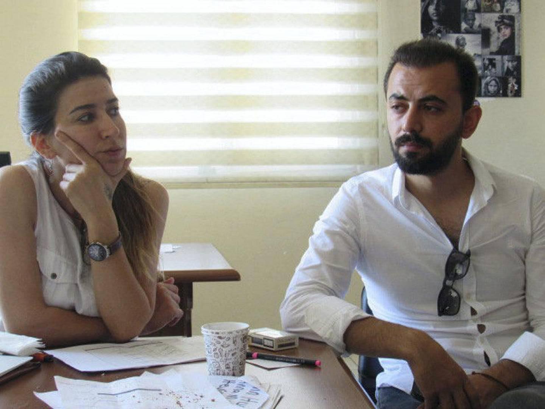 Suna Ertas, left, and Emin Coban. Photo by Mat Nashed