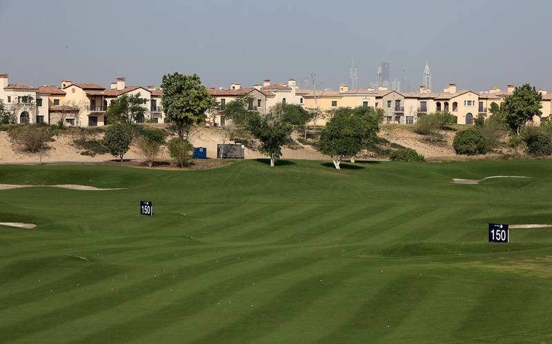 DUBAI , UNITED ARAB EMIRATES  Ð  Nov 25 : Villas at the Jumeirah Golf Estates in Dubai. ( Pawan Singh / The National ) For Stock