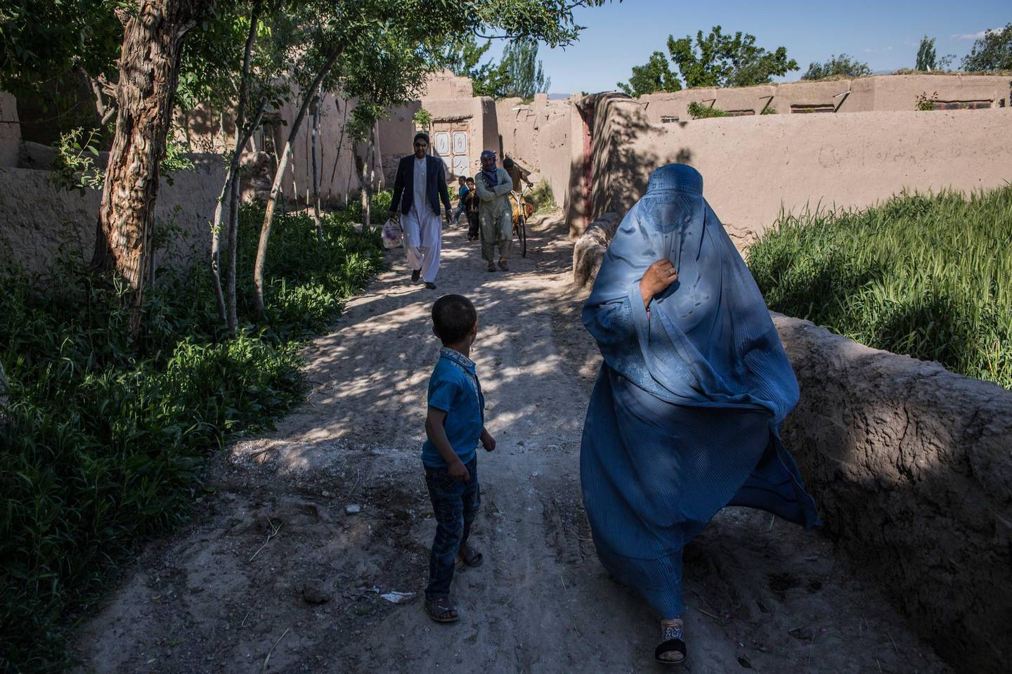 In rural Herat, many people opt for 'alternative justice' - in government areas this can mean seeking help from local elders and mullahs, while in Taliban areas, it means going to a Taliban court. This village, Sultan Khan, is in a government-held area. Stefanie Glinski for The National