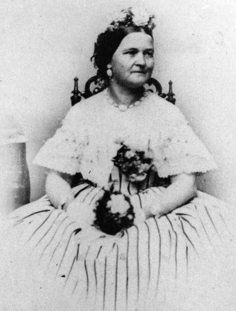 circa 1865:  Mary Todd Lincoln (1818 - 1882), nee Mary Todd, the wife of Abraham Lincoln, the assassinated 16th President of the United States of America. They were married in 1842.  (Photo by Hulton Archive/Getty Images)