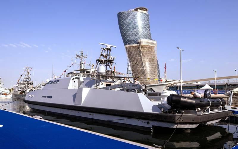 Abu Dhabi, United Arab Emirates, February 23, 2021.  Idex 2021 Day 3.  Warships at NAVDEX.Victor Besa / The NationalSection:  NAReporter: