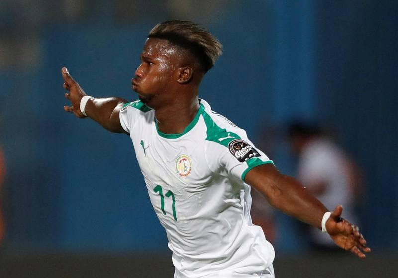 Soccer Football - Africa Cup of Nations 2019 - Group C - Senegal v Tanzania - 30 June Stadium, Cairo, Egypt - June 23, 2019  Senegal's Keita Balde celebrates scoring their first goal   REUTERS/Amr Abdallah Dalsh