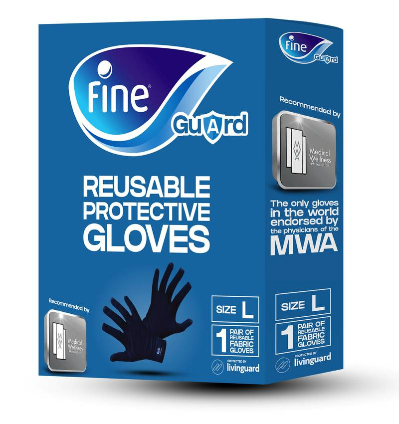 Fine reuasable protective gloves. courtesy: Fine hygienic holding.