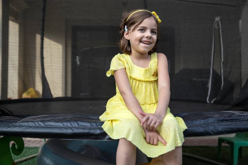 DUBAI UNITED ARAB EMIRATES. 17 NOVEMBER 2020.  Karin Voyatjes' daughter, Alexa, has cancer, acute Lymphoblastic Leukemia, and survived Covid-19. She is coming up to the end of a long period of treatment, two years, early next year. (Photo: Antonie Robertson/The National) Journalist: Gillian Duncan. Section: National.