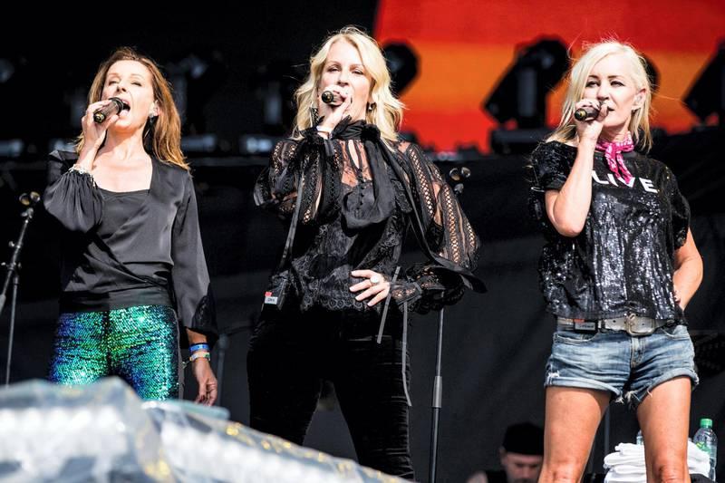 PXP6NA Bananarama - Sara Dallin, Siobhan Fahey and Keren Woodward performing at Barclaycards British Summertime in Hyde Park on 13th July 2018