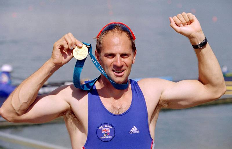 23 Sep 2000:  A proud moment for Steve Redgrave of Great Britain after winning gold in the Men's Coxless Four Rowing Final at the Sydney International Regatta on Day Eight of the Sydney 2000 Olympic Games in Sydney, Australia. \ Mandatory Credit: Clive Brunskill /Allsport