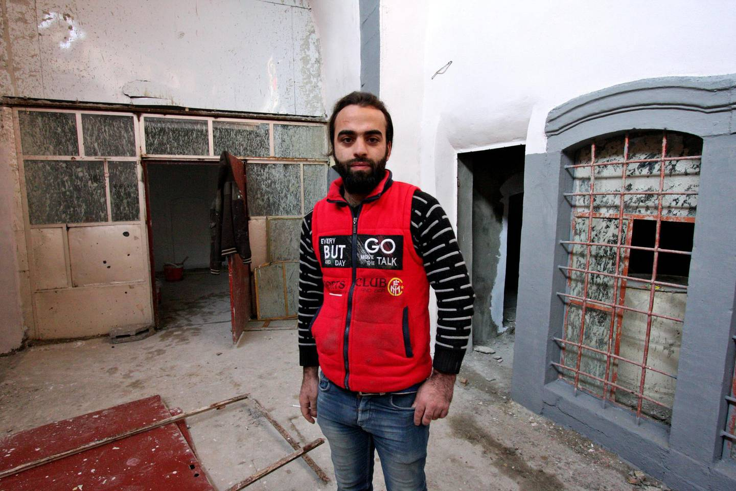 IRAQ-MOSUL_S TWO GOVERNORS-PICTURED-Twenty-five-year-old Mohamed Al Rahou who is now starting to rebuild his family home with the help of a local NGO. Charlie Faulkner for The National