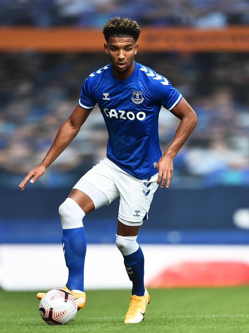 LIVERPOOL, ENGLAND - SEPTEMBER 05: Mason Holgate of Everton in action during the pre-season friendly match between Everton and Preston North End at Goodison Park on September 05, 2020 in Liverpool, England. (Photo by Nathan Stirk/Getty Images)