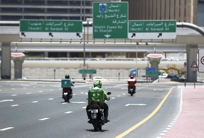 Dubai, United Arab Emirates - Reporter: N/A. News. Stock. General view of a careem driver. Tuesday, June 23rd, 2020. Dubai. Chris Whiteoak / The National