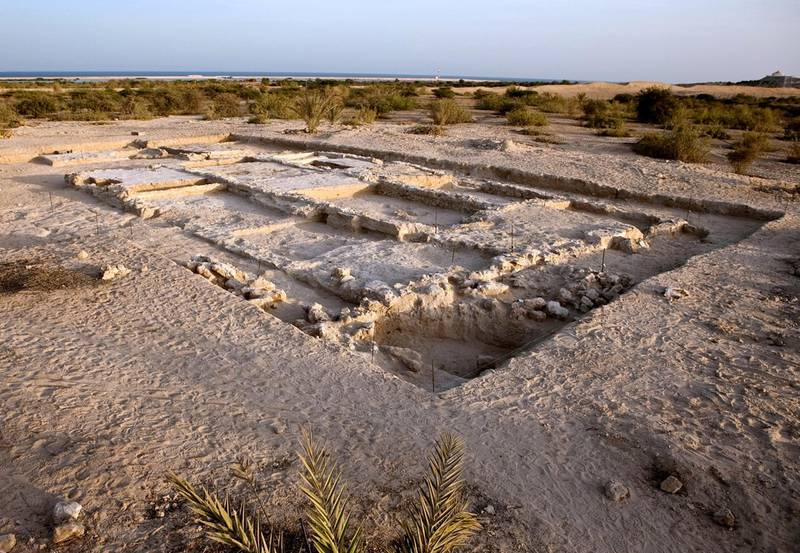 A handout picture dated November 28, 2009 made available by Abu Dhabi Tourism Development & Investment Company (TDIC) shows a general view of the United Arab Emirates' only discovered Christian monastery on Sir Bani Yas Island in Abu Dhabi. The pre-Islamic monastery, which is believed to have been built around 600 AD, was initially discovered on the 87 square kilometre island of Sir Bani Yas during excavations in 1992 is now open to the public, a statement by the TDIC said December 12, 2010.         AFP PHOTO/HO/TDIC/MARTIN PFEIFER      -- RESTRICTED TO EDITORIAL USE -- / AFP PHOTO / TDIC / Martin Pfeiffer