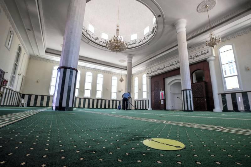Abu Dhabi, United Arab Emirates, April 8, 2021.  Mohammedullah Moin, the Imam of Ali Salem Al Kaabi Mosque in Abu Dhabi. Victor Besa/The NationalSection:  NA