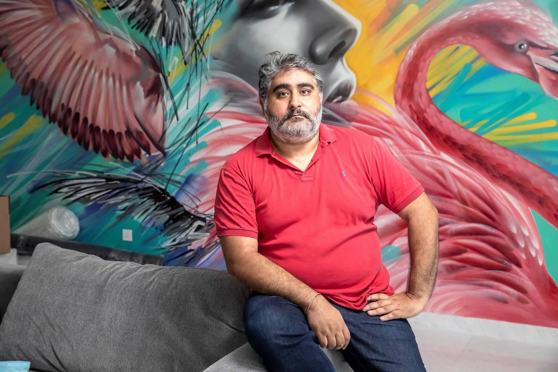 DUBAI, UNITED ARAB EMIRATES. 07 OCTOBER 2020. Vinayak Mahtani, CEO of bnbme, Holiday Home Management Company. (Photo: Antonie Robertson/The National) Journalist: Keith J Fernandez . Section: Business.