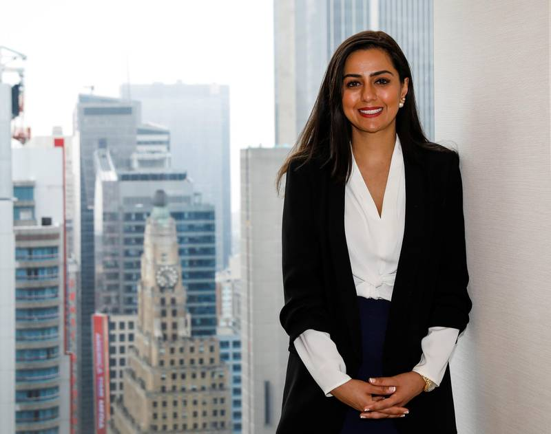 Priya Karani, Director on Equity Derivatives Trading Desk, poses for a portrait in New York, U.S., June 1, 2018. Picture taken June 1, 2018. REUTERS/Brendan McDermid