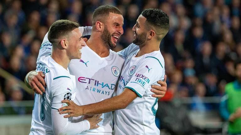 An image that illustrates this article Five-star Manchester City outclass Brugge to get back on track