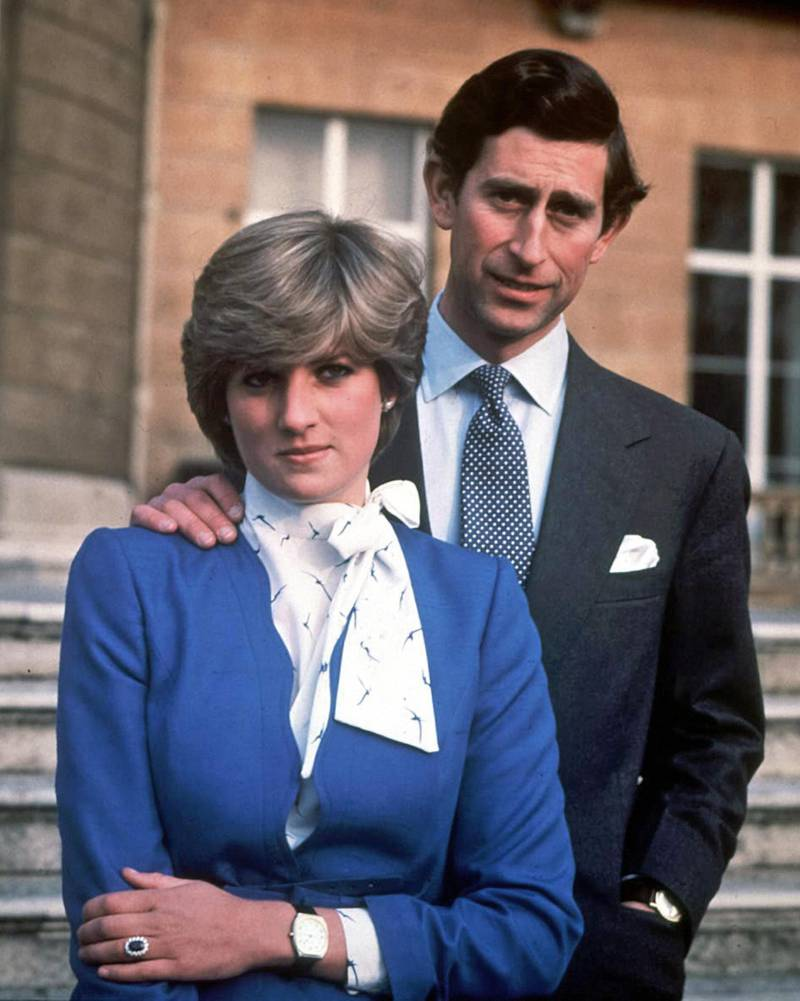 epa06156656 (FILE) - Britain's Charles, Prince of Wales (R) and his then fiance Lady Diana Spencer pose on the day their engagement was announced in the gardens of Buckingham Palace in London, Britain, 24 February 1981. The 20th anniversary of Princess Diana's death will be marked on 31 August 2017. Diana Spencer, ex-wife of Prince Charles, died in a car accident in Paris, France on 31 August 1997.  EPA/STR UK AND IRELAND OUT