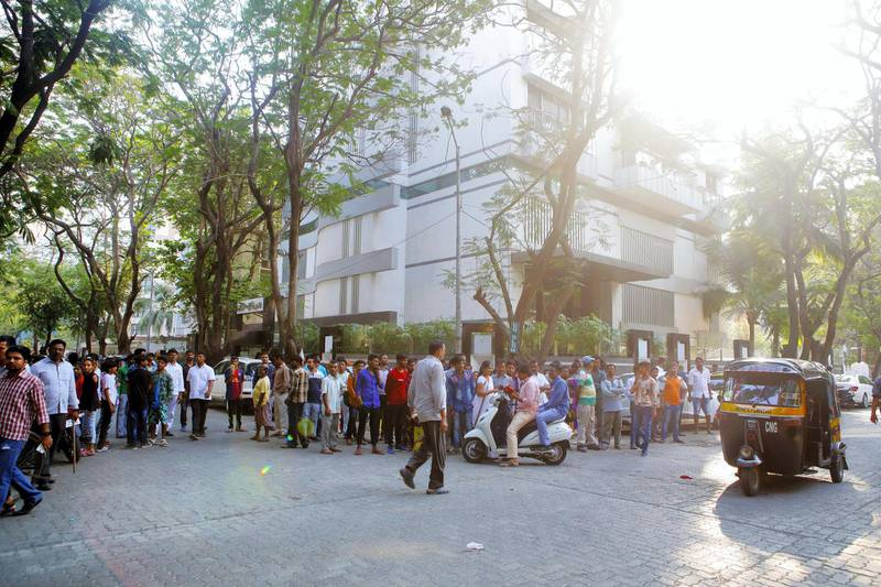 27 Feb 2018, Mumbai - INDIA A group of about 450 fans arrived today from Gulbarga, Karnataka, to Mumbai  for the Funeral of Sridevi. (Subhash Sharma for The National)