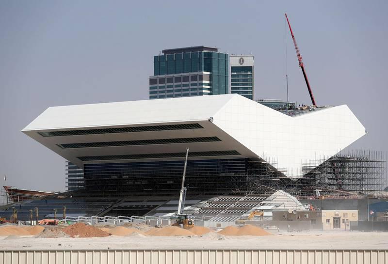 Dubai, United Arab Emirates - September 30, 2018:  Mohammed bin Rashid Library under construction. Thursday, October 25th, 2018 in Dubai. Chris Whiteoak / The National