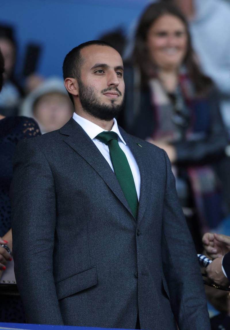 Sheffield United Chairman Prince Musa'ad bin Khalid Al Saud during the Premier League match at Goodison Park, Liverpool. (Photo by Nick Potts/PA Images via Getty Images)