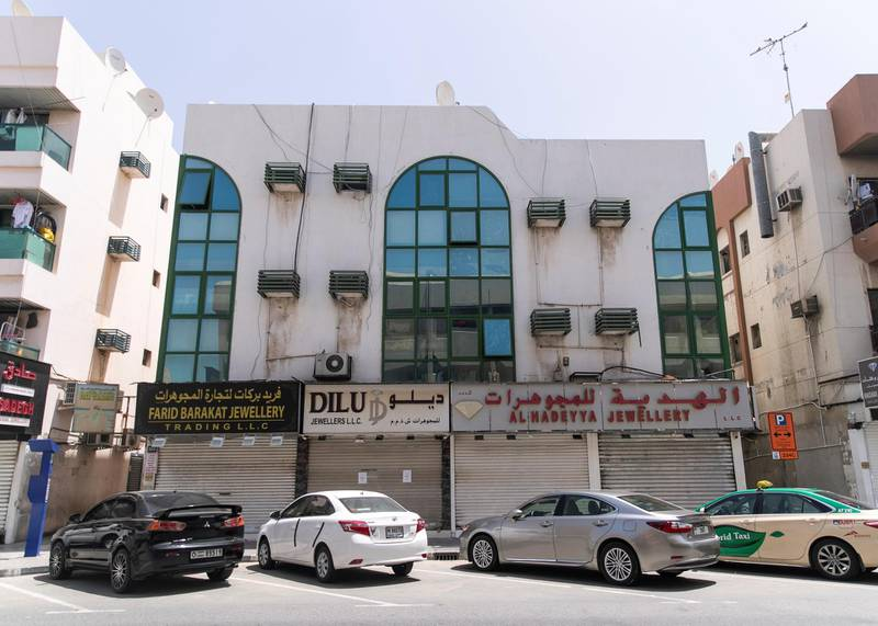 DUBAI, UNITED ARAB EMIRATES. 4 APRIL 2020. Usually a vibrant area, Satwa's shops have closed temporarily to help UAE's plan to prevent the spread of the coronavirus.(Photo: Reem Mohammed/The National)Reporter:Section:
