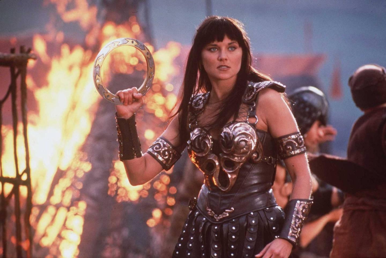 Lucy Lawless as Xena in Xena: Warrior Princess. Courtesy NBC Universal