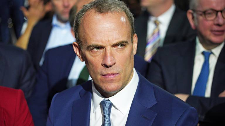 An image that illustrates this article Three death threats made against UK government's Dominic Raab