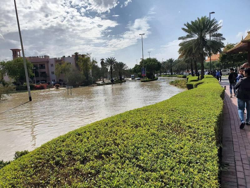 Flooding in Discovery Gardens. Courtesy: Antonio Abreu
