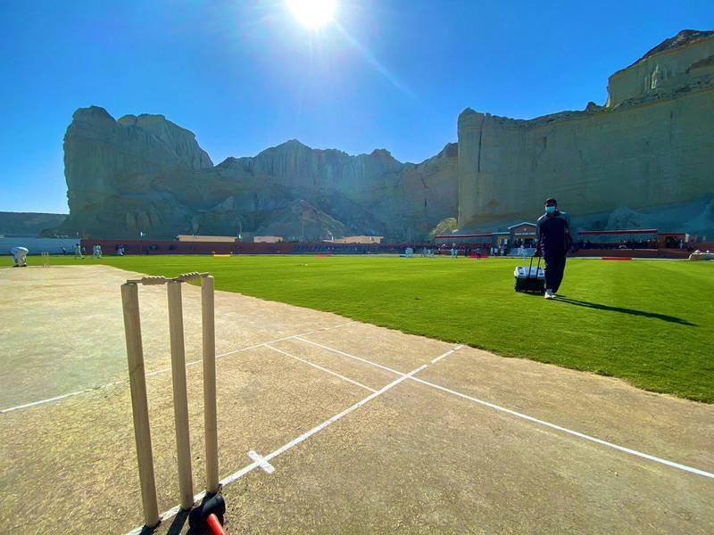 Gwadar Cricket Stadium in Balochistan. Courtesy: Fakhr-e-Alam Twitter /  @falamb3