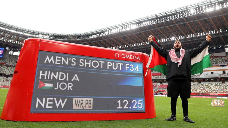 An image that illustrates this article Ahmad Hindi wins Jordan's fourth Games gold with world record throw