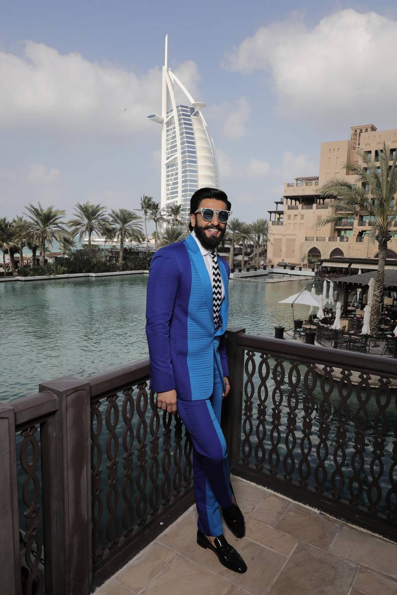 DUBAI, UNITED ARAB EMIRATES - DECEMBER 08:  Ranveer Singh poses at a portrait session during day two of the 13th annual Dubai International Film Festival held at the Madinat Jumeriah Complex on December 8, 2016 in Dubai, United Arab Emirates.  (Photo by Neilson Barnard/Getty Images for DIFF)