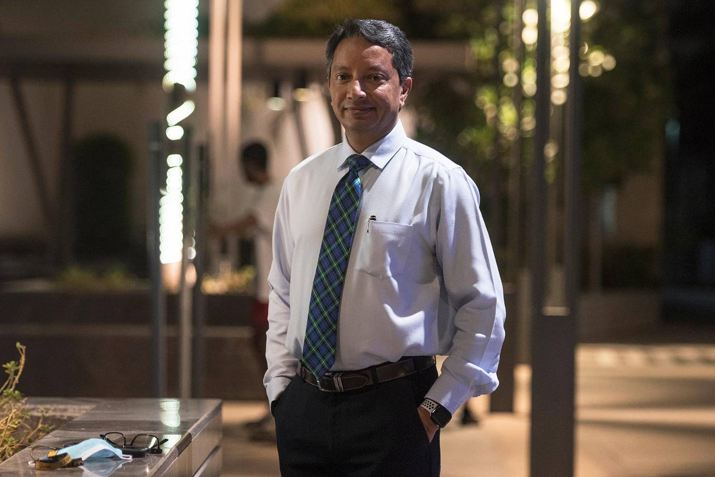 """Aug 31,2020:Portrait of Rajesh Keerthy for the story of """"How different generations invest """"at Abu Dhabi,UAE"""