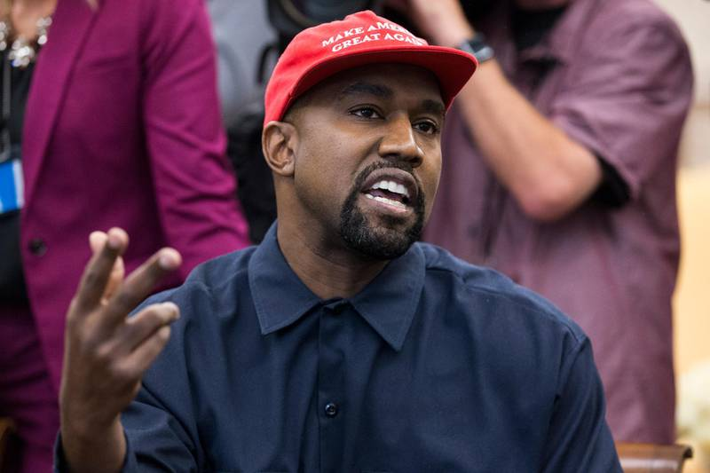 epa08528940 (FILE) - US entertainer Kanye West speaks during a meeting with US President Donald J. Trump in the Oval Office of the White House in Washington, DC, USA, 11 October 2018 (reissued 05 July 2020). West announced on twitter that he was 'running for president of the United States'. The US will hold presidential elections on November 3, 2020.  EPA/MICHAEL REYNOLDS *** Local Caption *** 54693752