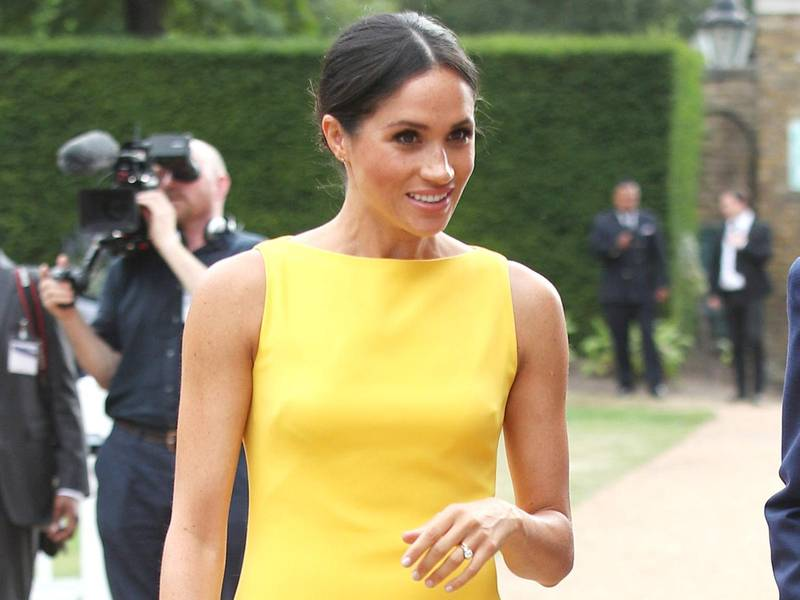 LONDON, ENGLAND - JULY 05: Meghan, Duchess of Sussex attends the Your Commonwealth Youth Challenge reception at Marlborough House on July 05, 2018 in London, England. (Photo by Yui Mok - WPA Pool/Getty Images)