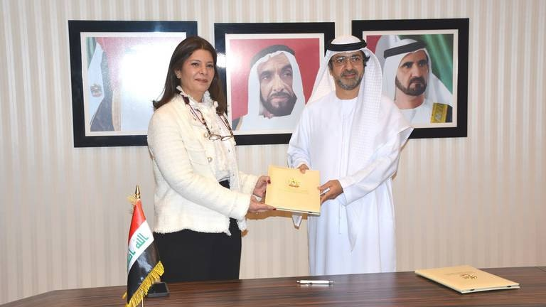An image that illustrates this article UAE signs deal with Iraq to protect and promote investments
