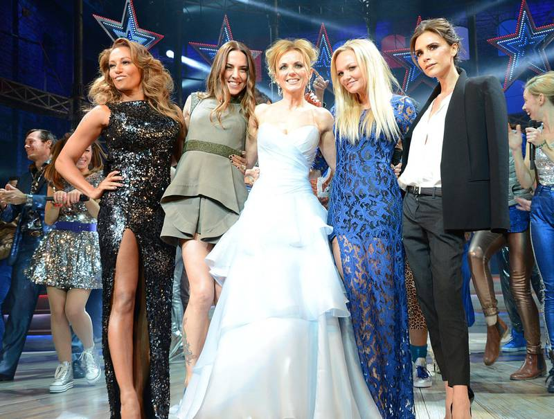 Mandatory Credit: Photo by Richard Young/Shutterstock (2020270gg)Spice Girls - Melanie Brown, Melanie Chisholm, Geri Halliwell, Emma Bunton and Victoria Beckham'Viva Forever!' musical press night at The Piccadilly Theatre, London, Britain - 11 Dec 2012