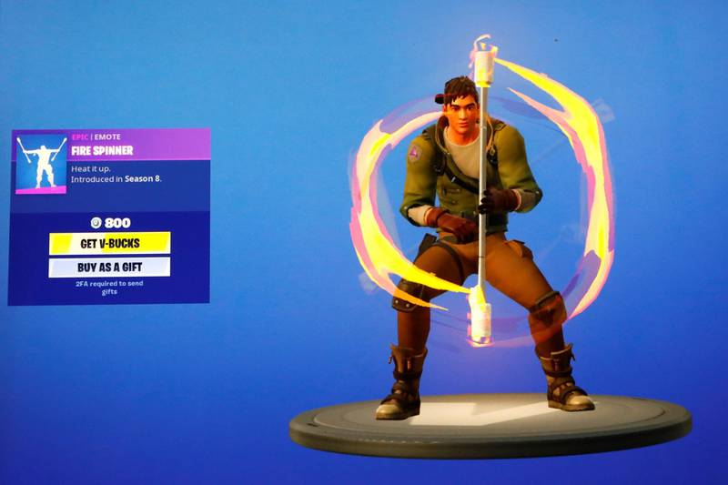 """The popular video game """"Fortnite"""" by Epic Games is pictured on a screen in this picture illustration August 14, 2020. REUTERS/Brendan McDermid/Illustration"""