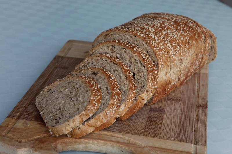 Dubai, United Arab Emirates - September 6, 2012.  Brown bread Loaf from Carrefour.  ( Jeffrey E Biteng / The National )