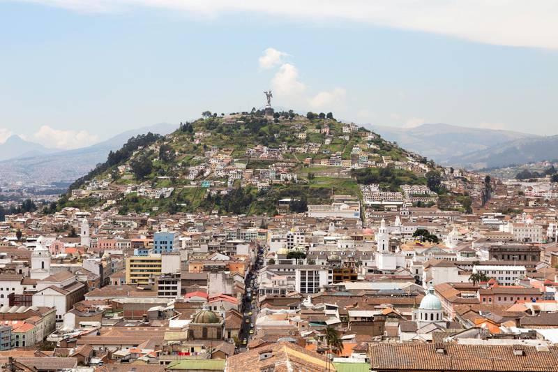 KM2W7H Panecillo Hill, Quito Ecuador South America