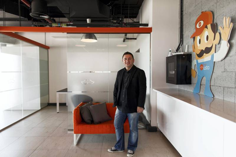 Dubai, United Arab Emirates, December 24, 2017:    Ibrahim Colak, CEO and co-founder of mrUsta at their office in the Dubai Production City area of Dubai on December 24, 2017. Christopher Pike / The National  Reporter:  N/A Section: Business