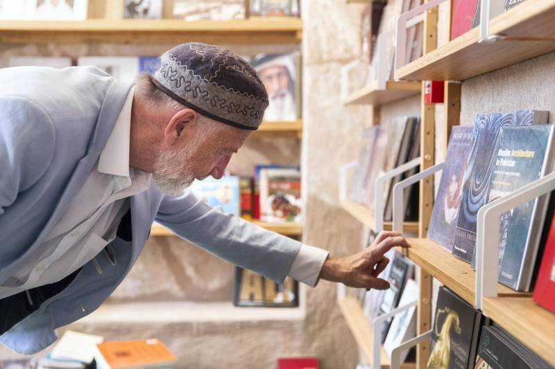 DUBAI, UNITED ARAB EMIRATES - May 6 2019.Idris Mears, Project Leader at Alserkal Cultural Foundation, at Book Quarter.(Photo by Reem Mohammed/The National)Reporter: RupertSection: NA