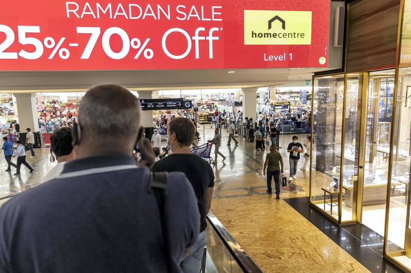 Shopping in preparation for Eid in Mall of the Emirates on the last day of Ramadan, May 10th, 2021. Antonie Robertson / The National.Reporter: Patrick Ryan for National.