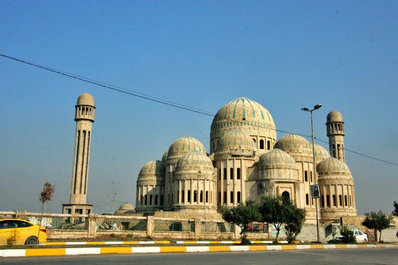 IRAQ-MOSUL_S TWO GOVERNORS-PICTURED-The Mosul Grand Mosque, formerly known as the Saddam Mosque, built in the name of Saddam Hussein. It remains unfinished. Charlie Faulkner for The National