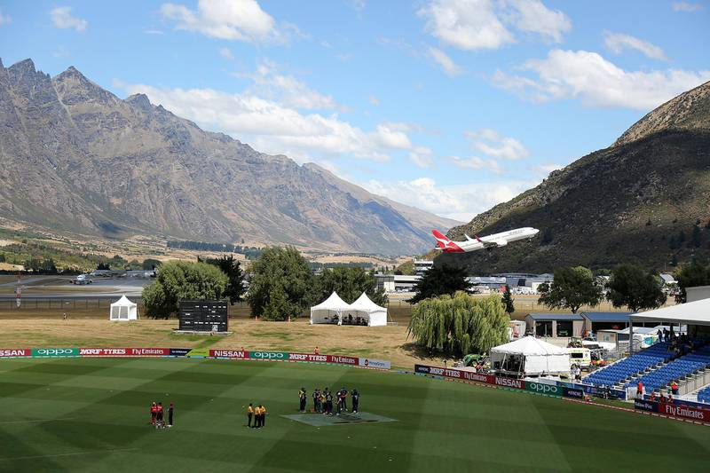 QUEENSTOWN, NEW ZEALAND - JANUARY 20: A general view as seen during the ICC U19 Cricket World Cup match between England and Canada at John Davies Oval on January 20, 2018 in Queenstown, New Zealand. (Photo by Dianne Manson-ICC/ICC via Getty Images)