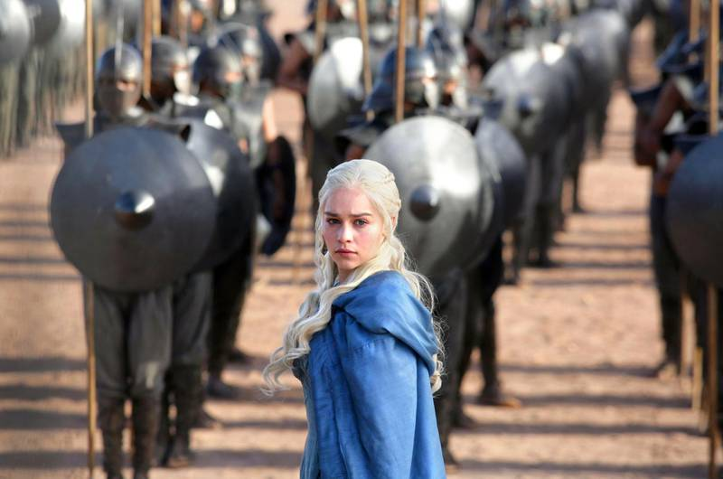 THIS IMAGE CAN NOT BE USED ONLINE /// No Merchandising. Editorial Use Only. No Book Cover UsageMandatory Credit: Photo by c.HBO/Everett / Rex Features (2234901t)GAME OF THRONES, Emilia Clarke in 'And Now His Watch Is Ended' (Season 3, Episode 4, aired April 21, 2013)Game Of Thrones - 2013 *** Local Caption ***  bz23ju-p1-osn.jpg