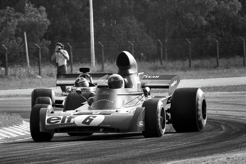 Jackie Stewart, Tyrrell-Ford 005, Grand Prix of Argentina, Autodromo Juan y Oscar Galvez, Buenos Aires, January 28, 1973. (Photo by Bernard Cahier/Getty Images)