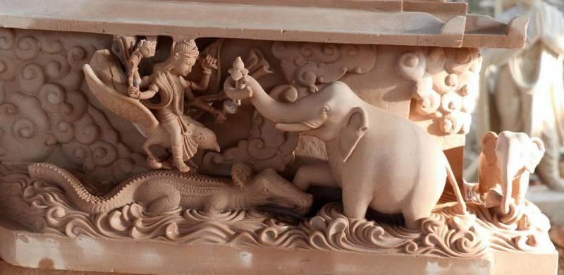 Stone carvings in the Hindu temple. Courtesy BAPS Hindu Mandir