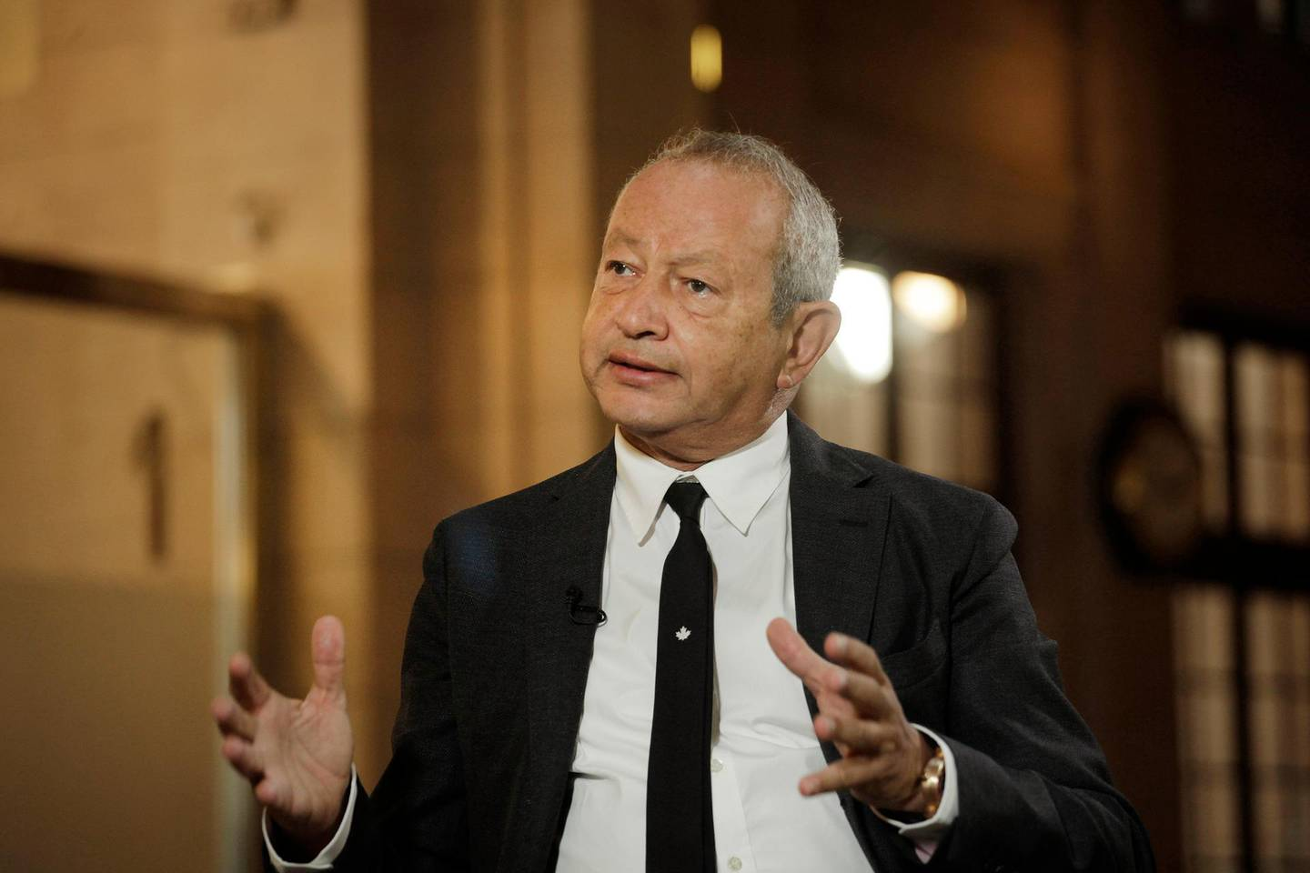 Naguib Sawiris, chairman and chief executive officer of Orascom Telecom Media And Technology Holding SAE, speaks during a Bloomberg Television interview on the sidelines of the Argentina Business & Investment forum in Buenos Aires, Argentina, on Tuesday, Sept. 13, 2016. Sawiris says he's interested in investment opportunities in Argentina and Brazil, mainly in the mining and telecommunications industries. Photographer: Diego Levy/Bloomberg
