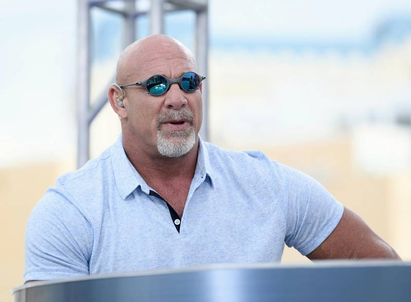 LAS VEGAS, NV - JULY 08:  Bill Goldberg speaks at the roundtable panel during HISTORY's Live Event 'Evel Live' at Omnia Nightclub at Caesars Palace on July 8, 2018 in Las Vegas, Nevada.  (Photo by Bryan Steffy/Getty Images for HISTORY)