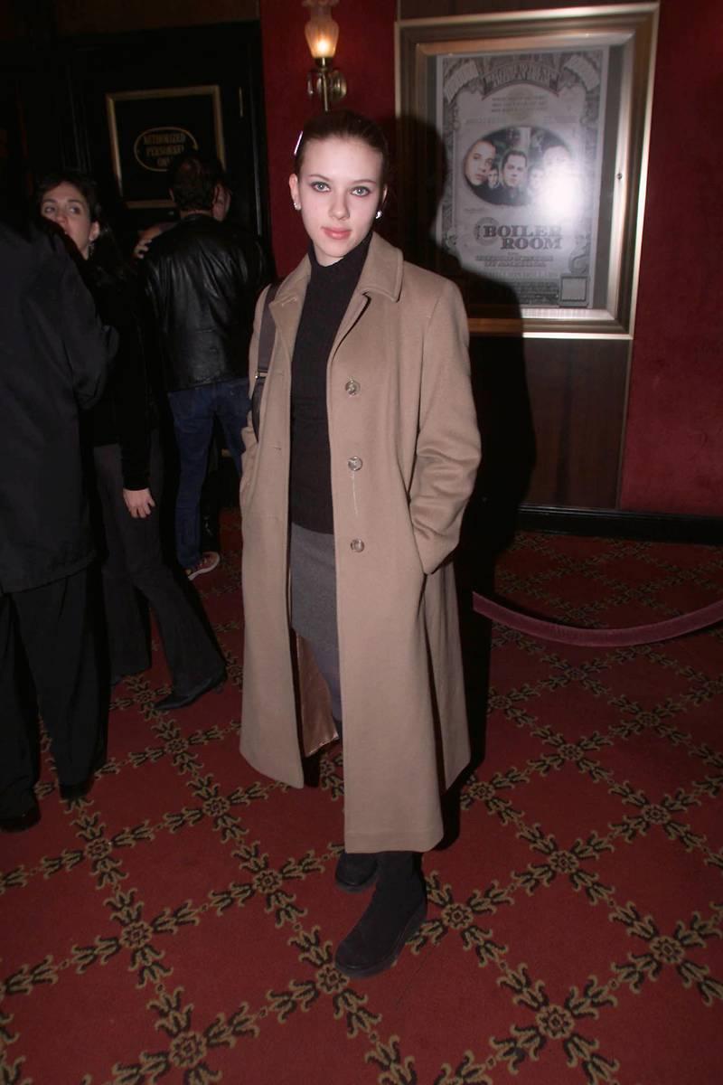 Scarlett Johannssen at Boiler Room  Premiere Febuary 14, 2000 in NYC  (Photo Scott Gries/ImageDirect)