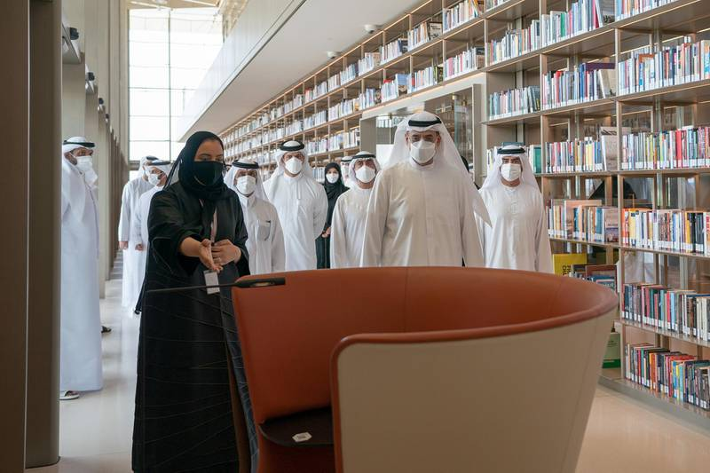HARJAH, 15th June, 2021 (WAM) -- H.H. Sheikh Sultan bin Mohammed bin Sultan Al Qasimi, Crown Prince and Deputy Ruler of Sharjah and Chairman of Sharjah Executive Council, on Tuesday morning, inspected the House of Wisdom, the new cultural project in the Emirate of Sharjah, in the presence of H.H. Sheikh Abdullah bin Salem bin Sultan Al Qasimi, Deputy Ruler of Sharjah and Deputy Chairman of Sharjah Executive Council. Wam